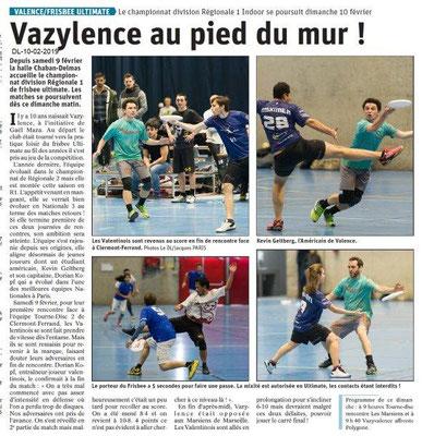 Dauphiné Libéré du 10-02-2019- Vasylence
