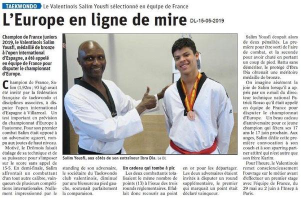 Le Dauphiné Libéré du 15-05-2019- Taekwondo Valence