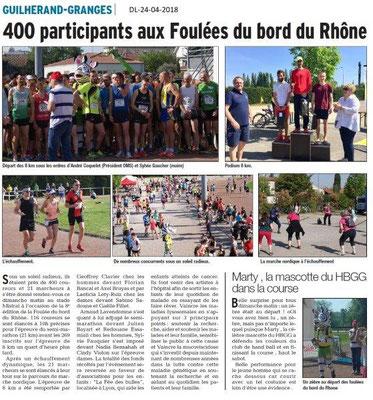 Dauphiné Libéré du 24-04-2018-Les foulées du bord du Rhône-Guilherand-Granges