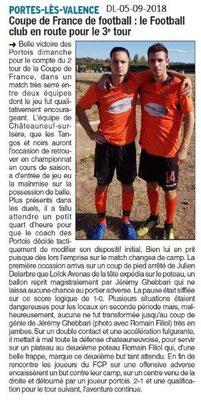 Dauphiné Libéré du 05-09-2018- 3ième tour pour le Foot Club Potois