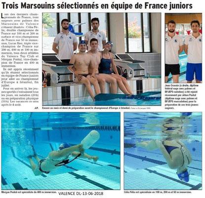 Dauphiné Libéré du 13-06-2018- Les Marsoins de Valence