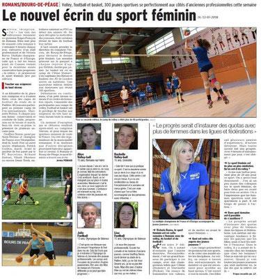 Dauphiné Libéré du 12-07-2018-Bourg de Péage- Ecrin du Sport Feminin
