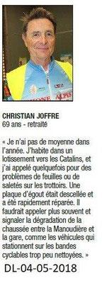 Dauphiné Libéré du 04-05-2018- Christian