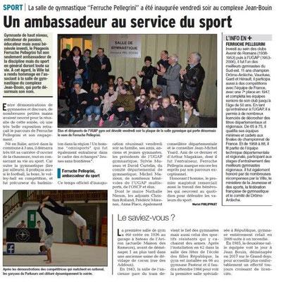Dauphiné Libéré du 25-03-2018-Inauguration salle de Gymnastique-Bourg de Péage