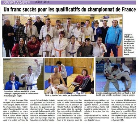 Dauphiné Libéré du 26-01-2019-Sport Adapté qualification