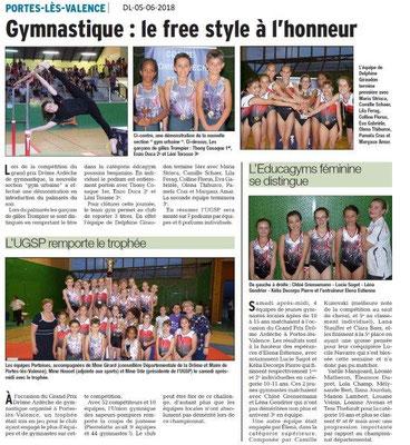 Dauphiné Libéré du 05-06-2018-Gym à Portes-les-Valence