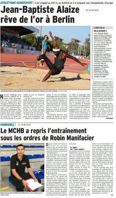 Dauphiné Libéré du 18-08-2018- Echos du Sport de Montélimar