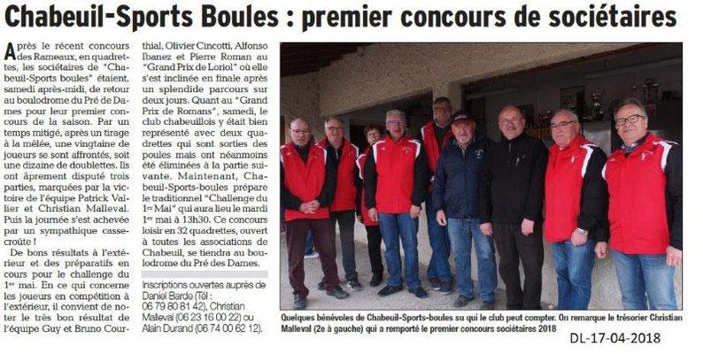 Dauphiné Libéré du 17-04-2018-Sports-Boules-Chabeuil