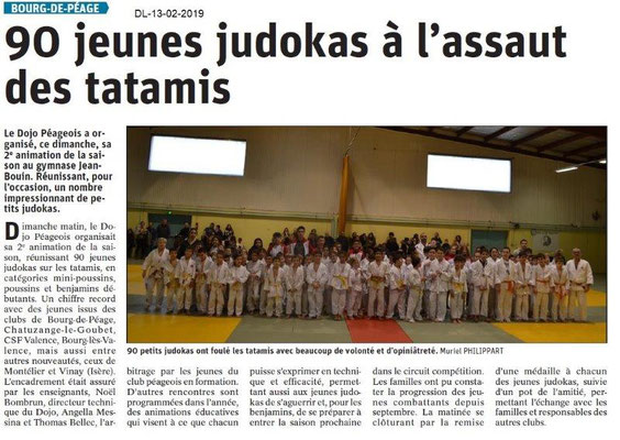 Dauphiné Libéré du 13-02-2019- Judo à Bourg de Péage
