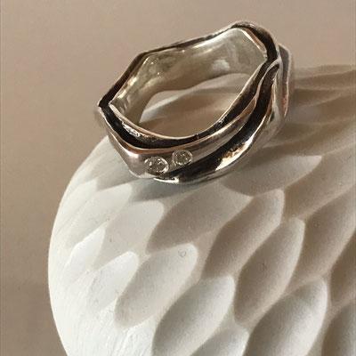 #ring #silver#diamonds