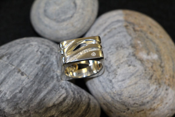 #ring #silver#diamonds #jewellery #artjewellery