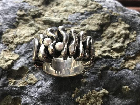 #ring #silverring #jewellery #artjewellery #pearls