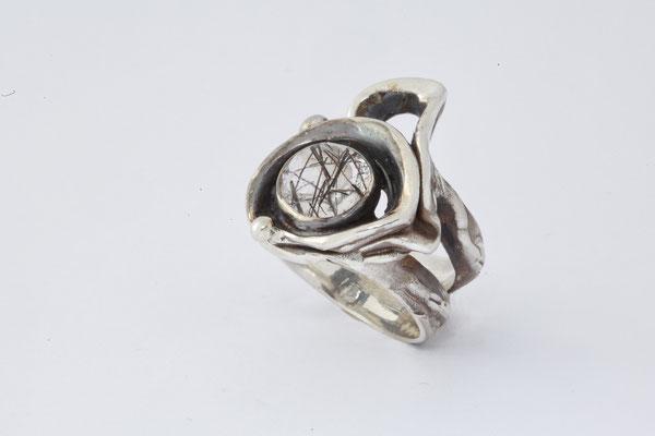 #ring #silverring #jewellery #artjewellery #quartzinclusion