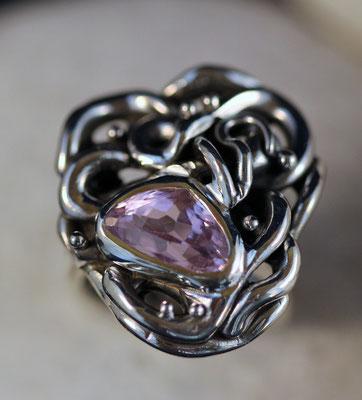 #ring #silverring #quartz#jewellery #artjewellery