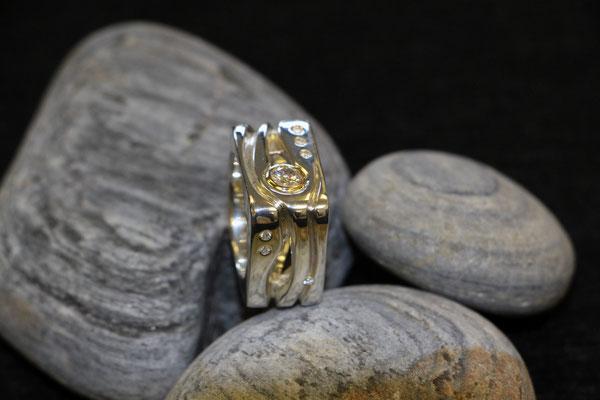 #ring #silver#diamonds #jewellery #artjewellery
