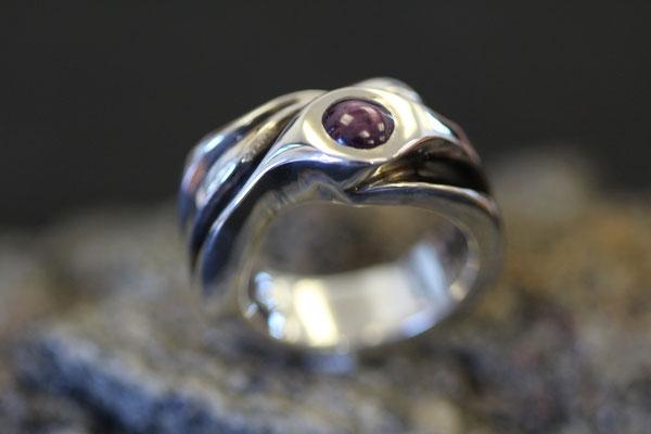 #ring #silverring #jewellery #artjewellery #redsaphir