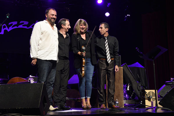 Angelo Debarre et Aurore Voilqué trio @ Jazzabar 2018 - festival de Jazz de Bar-sur-Aube
