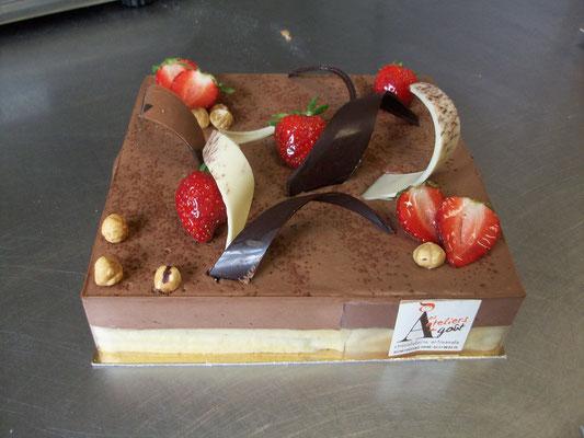 Le craquant chocolat aux fraises.