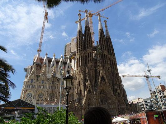 Die bekannte La Sagrada Familia