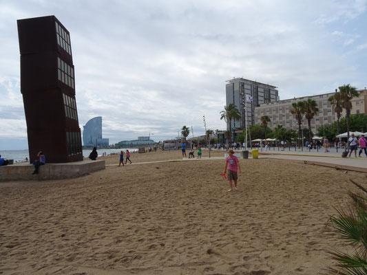 Leo genießt den Strand