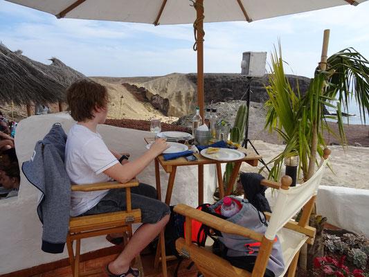 Paella an der Playa de Pagapayo