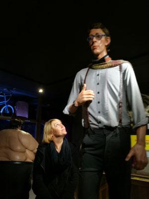 Ich mit dem größten Mann der Welt