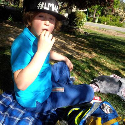 Picknick in den Jardins du Trocadéro