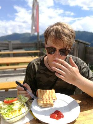 Toast auf der Erichhütte