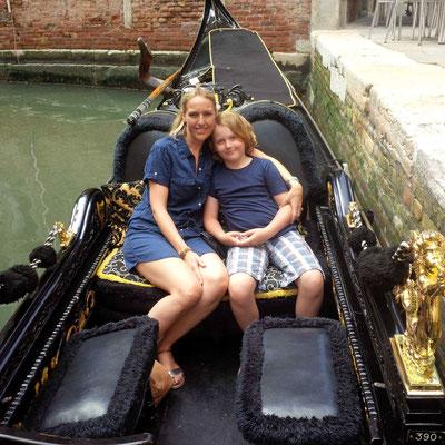 Die absolut obligatorische Gondelfahrt in Veneding. Mit Kindern ein MUSS!