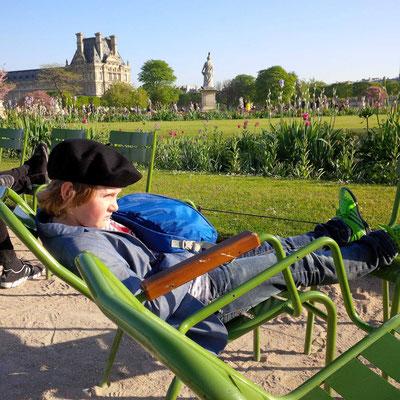 Kleine Pause im Jardin des Tuileries