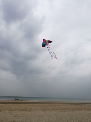 Der erste Drachenflug - bei herrlichen Windverhältnissen