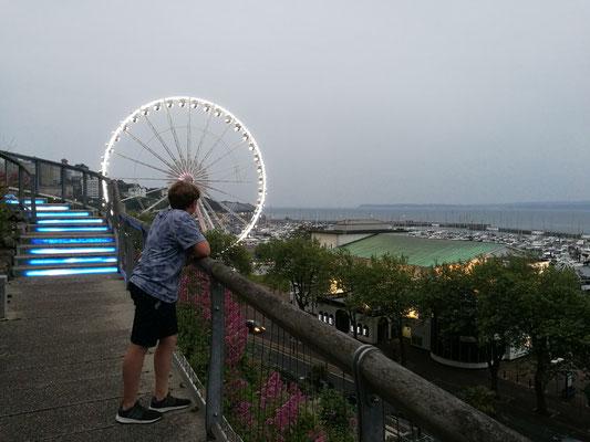 Schöner Blick auf die Bucht und den Hafen
