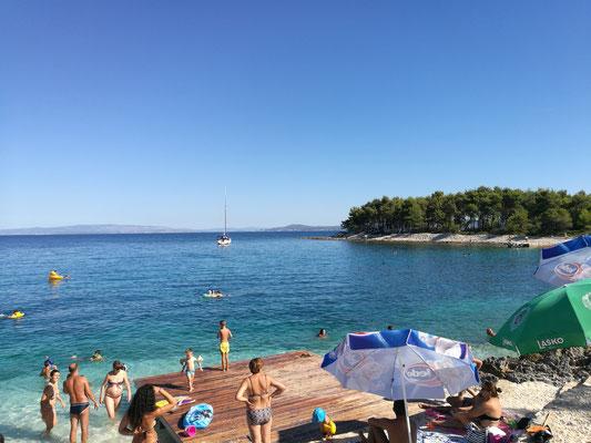 Zweite Badebucht bei Trogir - alles gut mit dem Auto erreichbar - von der Pension aus.