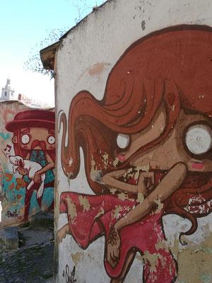 Street Art auf dem Weg nach unten