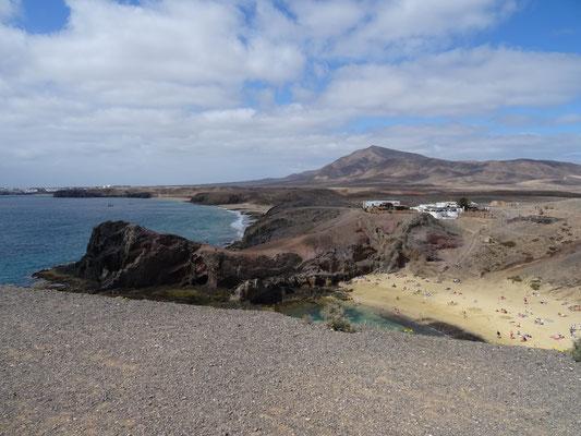 Blick auf die Playa de Papagayo