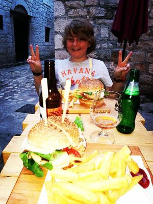 Abschiedsburger in Trogir