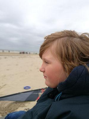 Den Kite-Sufern zusehen - in Nordwijk