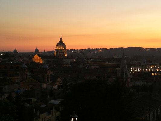 Blick von der Villa Borghese auf die Stadt