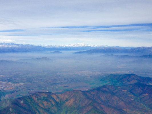 Départ de Santiago: un au-revoir à la cordillère des Andes