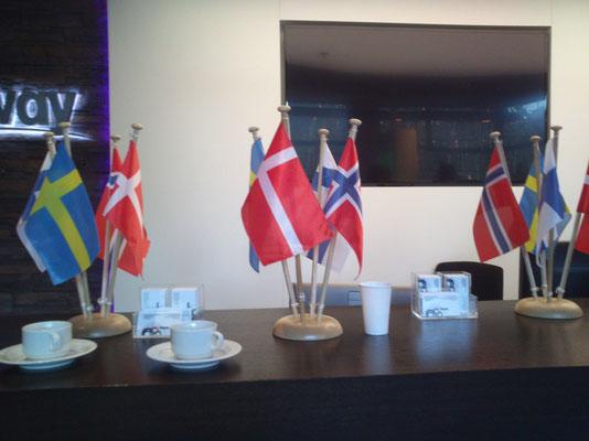 Internationales Geschäft - Skandinavien zu Besuch