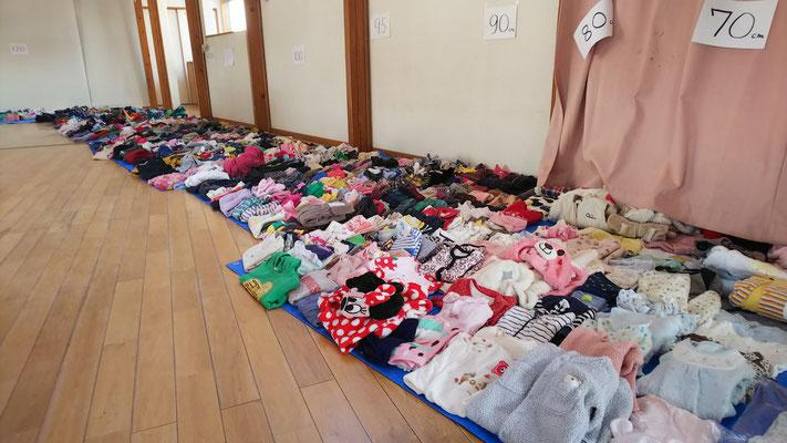 1番人気のサイズ別こども服のリサイクルです