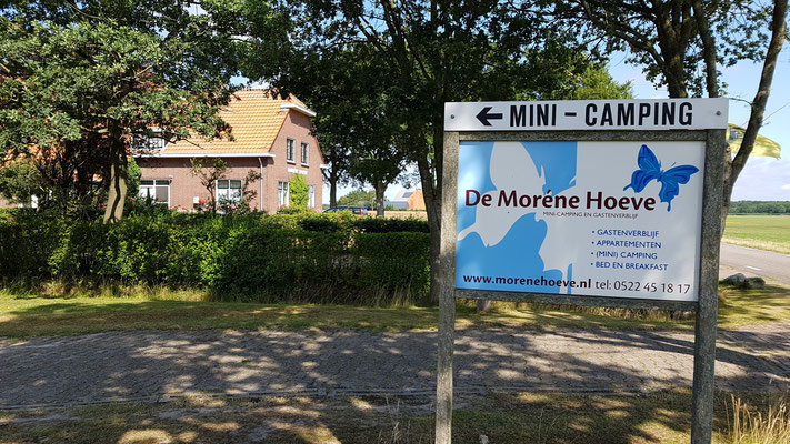 Morene Hoeve - welkomstbord