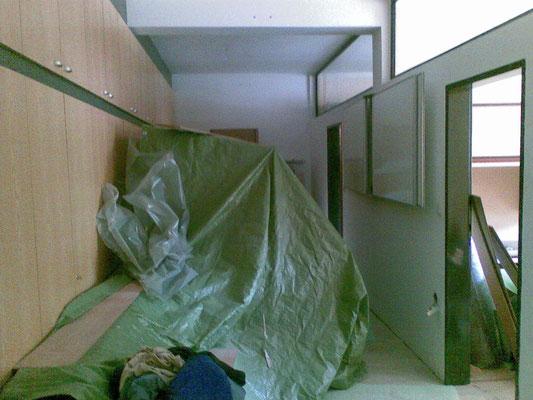 Vorraum der Büros - Wandverbau