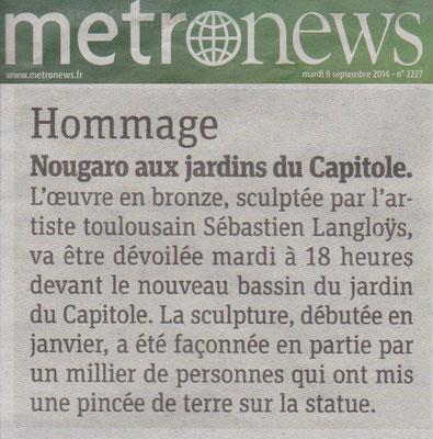 Article, Presse, sculpteur Langloÿs