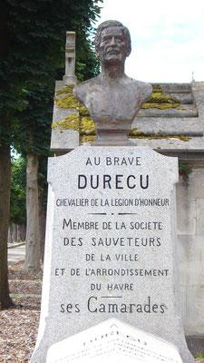 Buste en bronze de sauveteur Durécu, Sculpteur Langloÿs