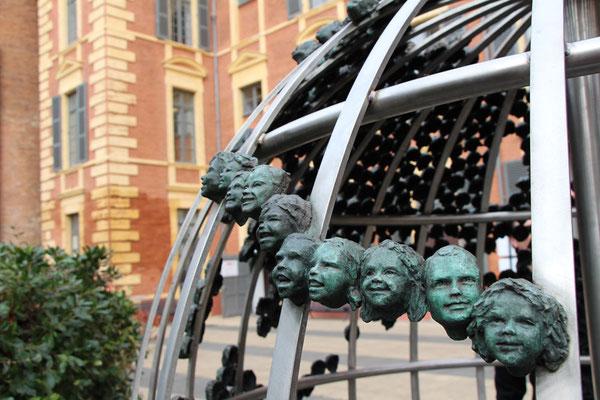 Sculpture monumentale, Regards d'Enfants, bronze, sculpteur Langloÿs