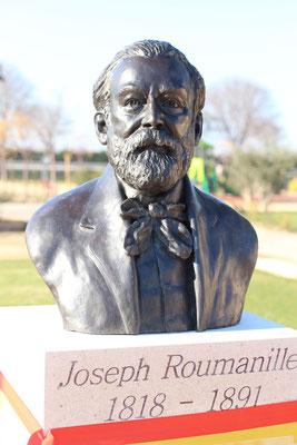 Sculpture-buste-statue-bronze-sulpteur-Langloys-Félibres-Mistral-Eyragues