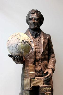 Maquette sculpture Arago, par Sébastien Langloÿs
