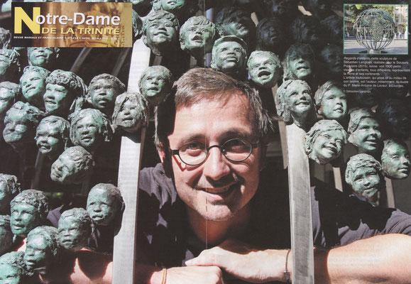 Article Notre Dame de la Trinité, Sculpture monumentale Regards d'Enfants, sculpteur Langloÿs
