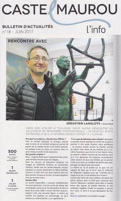 Sculpture, Statue, Artiste, Toulouse, Presse, Langloÿs